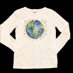 Oshkosh Originals Earth Graphic Design Tee- Size 7